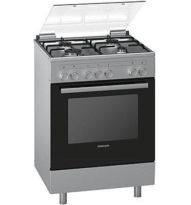 מתוחכם תנור משולב כיריים בעיצוב חדשני בגימור נירוסטה תוצרת CONSTRUCTA דגם UZ-47